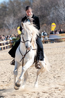 A rider performs her dressage test  at the Camagri