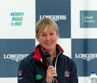 Nicola Wilson of Great Britain at a press conference following t