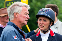 Gemma Tattersall talks to Yogi Briesner after her Show Jumping Round