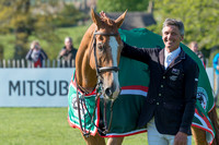 Winner Andrew Nicholson (NZL) and Nereo at the end  of the 2017 Mitsubishi Motors Badminton Horse Trials