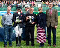 Piggy French runner up at the 2019  Land Rover Burghley Horse Trials at the Prize Giving Ceremony
