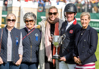 Oliver Townend third placed rider  at the 2019  Land Rover Burghley Horse Trials at the Prize Giving Ceremony