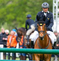 Sam Griffiths enters the show Jumping Arena