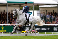 ANDREW  HOY (AUS) RIDING THE BLUE FRONTIER TAKING PART IN THE DRESSAGE PHASE OF THE  2016 LAND ROVER BURGHLEY HORSE TRIALS